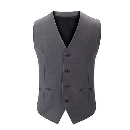 plusieurs couleurs pas cher achat spécial W&TT Costume Gilet Smoking Gilet Robe Gilet pour Hommes avec ...