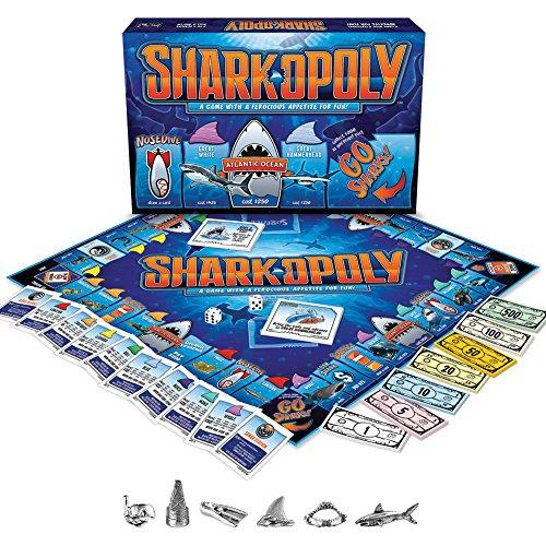 [해외]상어 오 폴 리 보드 게임-사나운 재미 먹이 광란 2-6 플레이어 8 세 이상 / Shark-opoly Boardgame - Ferocious Fun Feeding Frenzy For 2-6 Players Ages 8+
