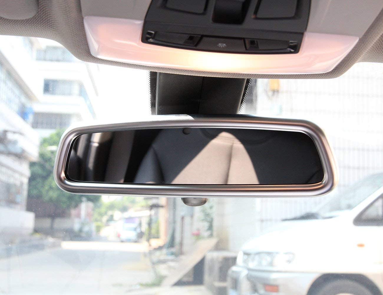 ABS Chrome car Interior Accessories AUTO Pro for Land Rover//BMW//Jaguar//Mercedes-Benz Interior Rearview Mirror Cover Trim