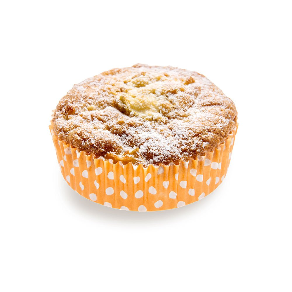 Panificio Premium 3.5 Inch, 4 Ounce Baking Cups: Regular-Ridged Round Paper Baking Cups Perfect for Muffins, Cupcakes or Mini Snacks - Hot Orange Polka Dot Print Design - Disposable - 200ct Box by Restaurantware