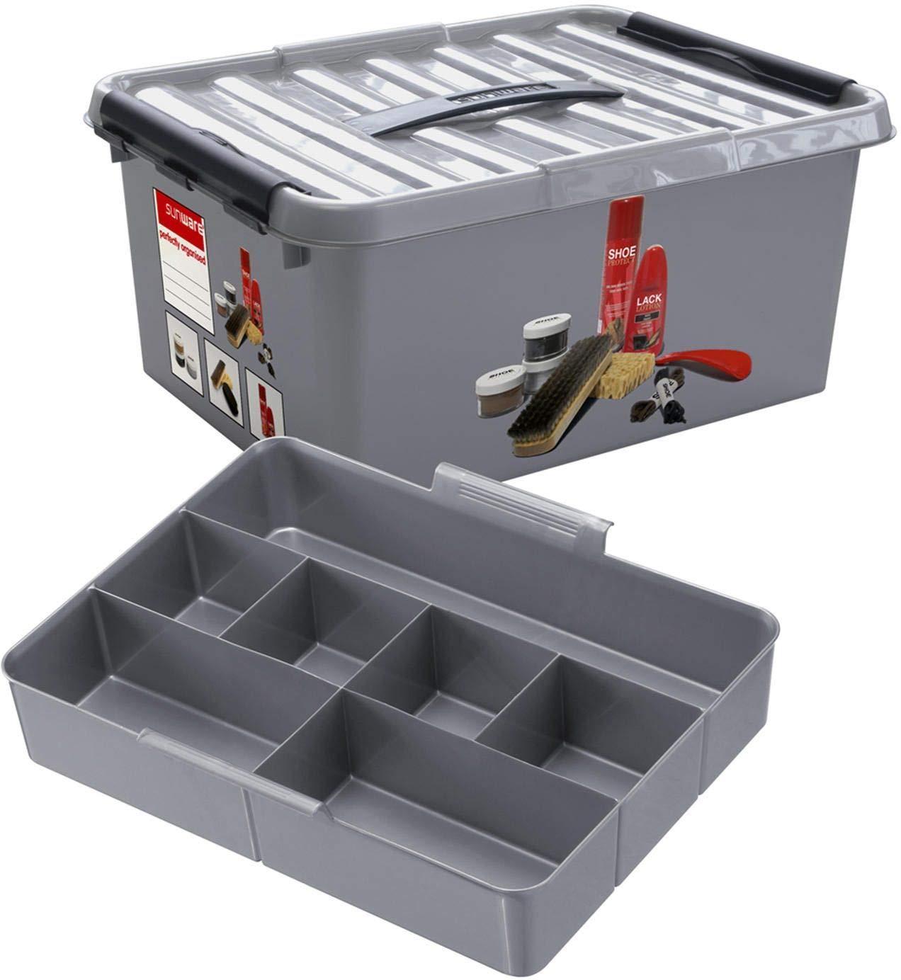 opbergboxen 1 Accessorie Sunware Q-line Schoenpoetsbox 15 liter