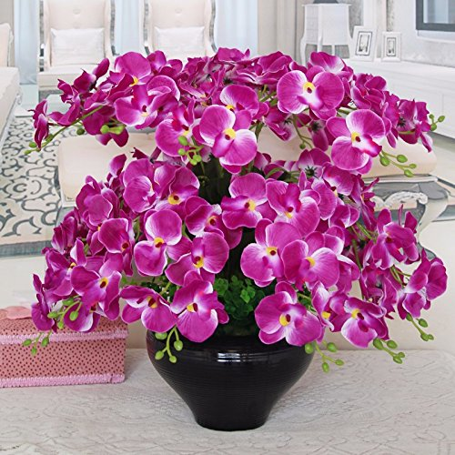 GBHNJ Falso Estilo Simple Pu Púrpura Orquídea Mariposa Artificial Decoración