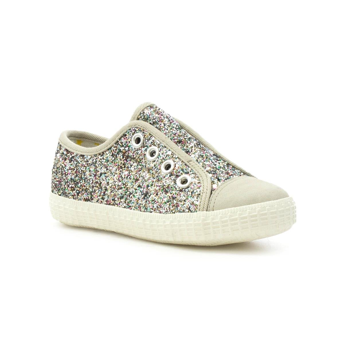 5f6daf2f7a93 Walkright Kids Multi Glitter Slip On Canvas - Size 2 UK - Multicolour   Amazon.co.uk  Shoes   Bags