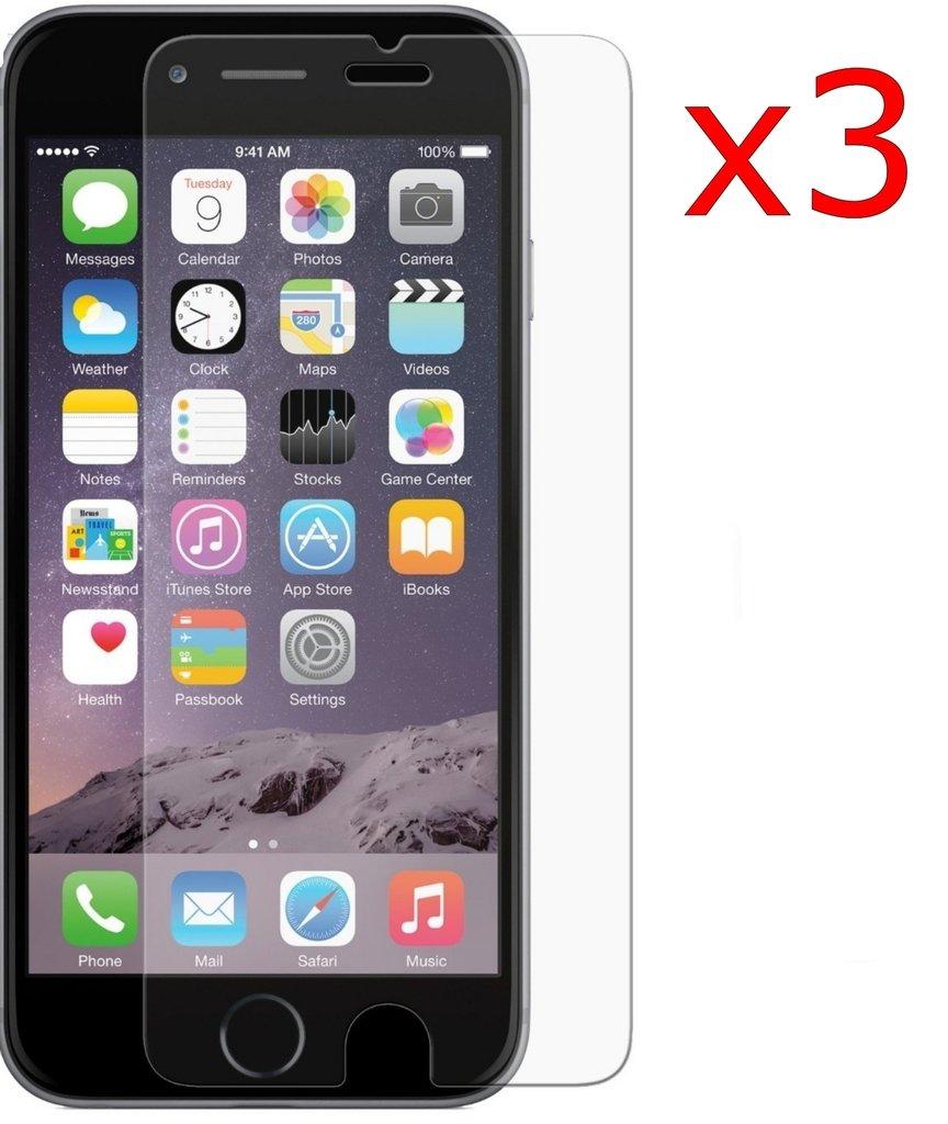(Pack de 3) Protector de pantalla Cristal templado para Iphone 6 Plus o 6S Plus Calidad HD, Grosor 0,3mm, Bordes redondeados 2,5D, alta resistencia a ...