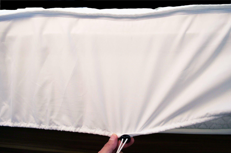 Universal Bezug mit Reißverschluss passend für jedes Wasserbett Boxspring-Bett  & Matratzen  Boxspring-Bett  Matratzenschoner mit Spannumrandung & Reißverschluss   Höhe bis 30cm   Microfaser   Matratzen-Schon-Auflage 180 x 210 cm 6bd9bc