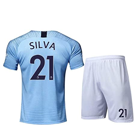 promo code 2de5f c83dd Amazon.com : ZZXYSY David Silva #21 Manchester City Men's ...