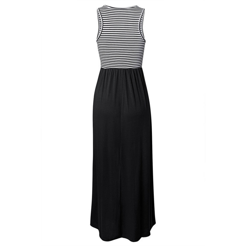 041fee020bc9d HASKAS Boho Long Dress Summer Women Maxi Dress Sexy Sleeveless Tank ...