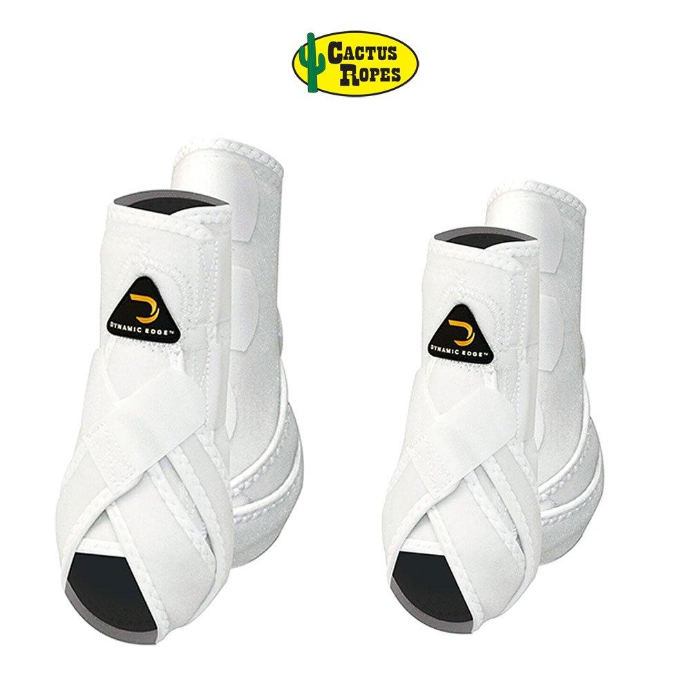 CactusロープダイナミックエッジHorse Front Hind背面脚スポーツブーツ4パックすべてのカラー&サイズ B01KB4SY8O Medium|ホワイト ホワイト Medium