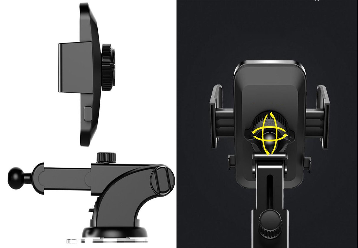MAOBLOG Car Phone Mount Anti-Skid and Anti-Scratch Leather Dashboard /& Windshield Adjustable One Touch Long Arm Car Holder for iPhone X 8 7s 6s Plus Samsung Galaxy S8 S7 S6 4-6.2 inches Phone. 4351670148 Black