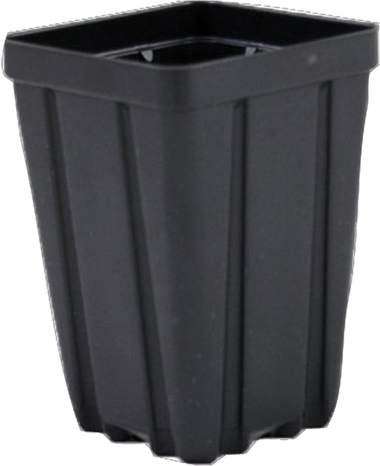 Square Greenhouse Pots 3.5 inch x 5 inch- Black – Plastic – Deep – Case of 450 by Growers Solution