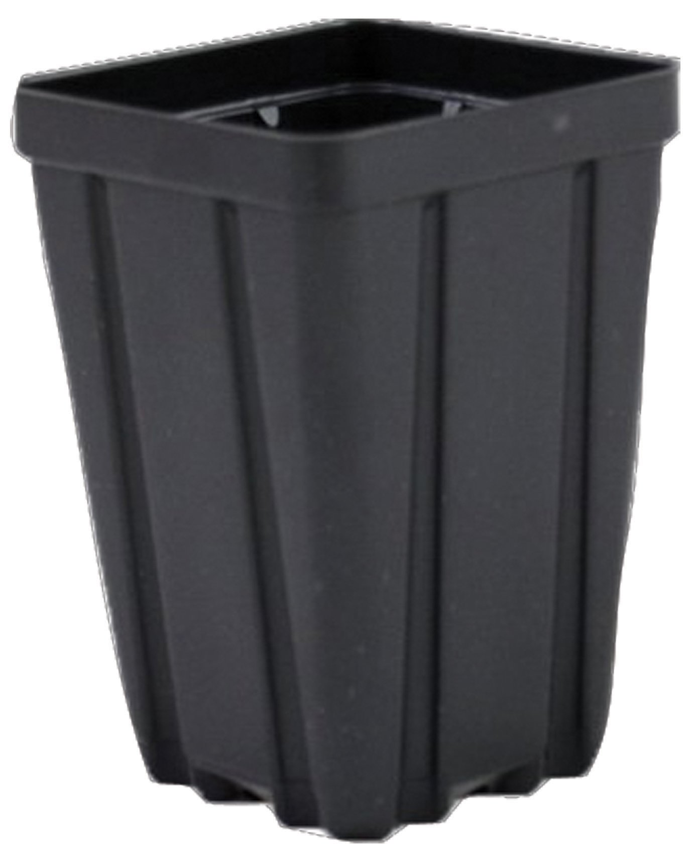 Square Greenhouse Pots 3.5 inch x 5 inch- Black - Plastic - Deep - Case of 450 by Growers Solution