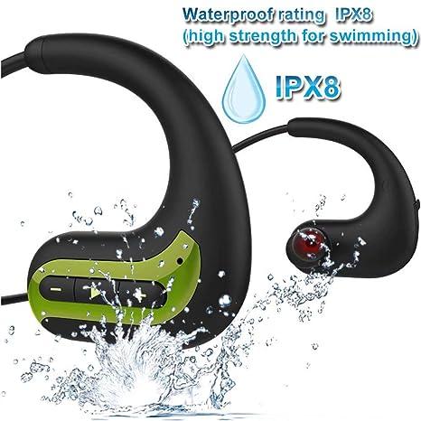 Auriculares Bluetooth, IPX8 Impermeables, 8 GB de Memoria SSD ...