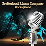EpicGifts Professional 3.5 MM Computer Microphone Audio Studio Wired Microphone Stand For Podcast Singing Chatting I