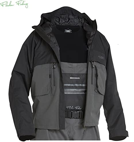 Fladen Pesca Authentic Wear Grigio Nero Giacca Antivento e