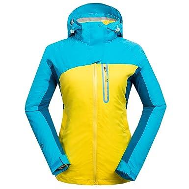 emansmoer Femme 3 en 1 Veste Coupe-Vent Imperméable Respirant Outdoor Sport  Camping Randonnée Manteau a837aa94c90d