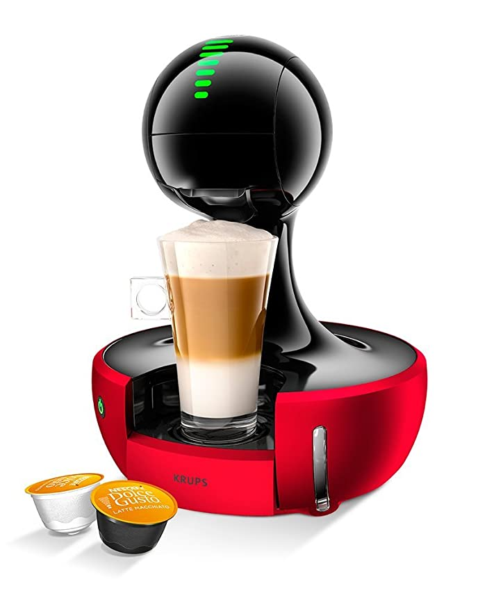 Krups Nescafe Dolce Gusto Drop Touch Coffee Machine - Red: Amazon ...