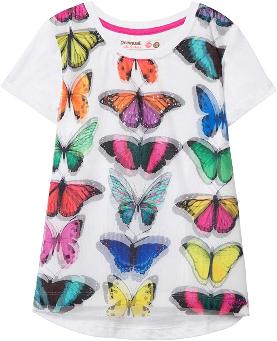Bambina TS/_Halifax Desigual Girl Knit T-Shirt Short Sleeve