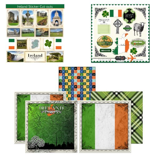 Scrapbook Customs Themed Paper and Stickers Scrapbook Kit, Ireland Sightseeing by Scrapbook Customs