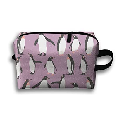 SHEERY Penguin Funny Cosmetic Bags Travel Storage Bag Clutch Bag