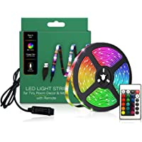 TV LED Backlights, LED Strip lights 6.56ft for TV 46-60 inch, LED Rope Lights for Bedroom with Remote, 16 Color Changing…