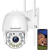 Security Camera Wireless Outdoor, HOSAFE WiFi Camera Surveillance for Home Security Camera System, 2-Way Audio…