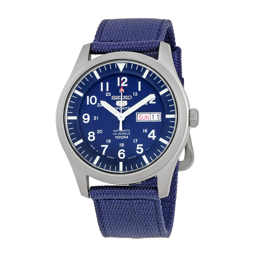 c1c309fdbeb Amazon.com  Seiko Men s SNZG11J1 5 Sports Blue Watch  Seiko  Watches