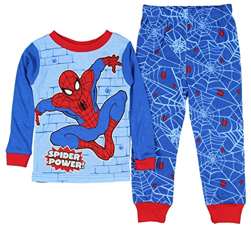 Spider-Man Little Boys Toddler Tight Fit Cotton Pajama Set (24 months)
