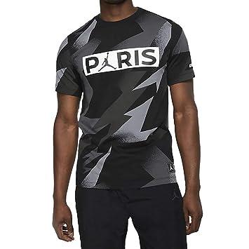 Nike M J PSG SS Jock Tag tee Camiseta, Hombre, Black, XL: Amazon ...