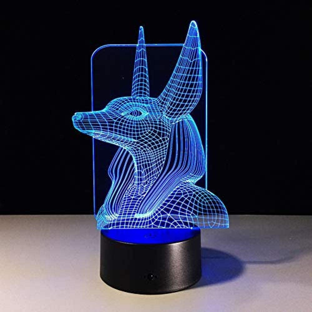 Luz de noche 3D Luz de noche LED 3D Habitación de los niños Lámpara 3D de animales Lámpara de luz nocturna Lámpara de color cambiante Luz de noche USB Luz de noche Led Ping