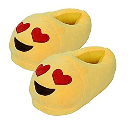 ffd6cddc24a Amazon.com  Emoji Slippers Plush Fluffy House Shoes  Sports   Outdoors