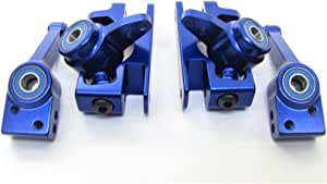 Traxxas Slash 4x4 Ultimate,Rustler 4x4 Rally 4x4, Stampede 4x4, Telluride 4x4 Blue Aluminum C-HUBS Steering Blocks Carriers