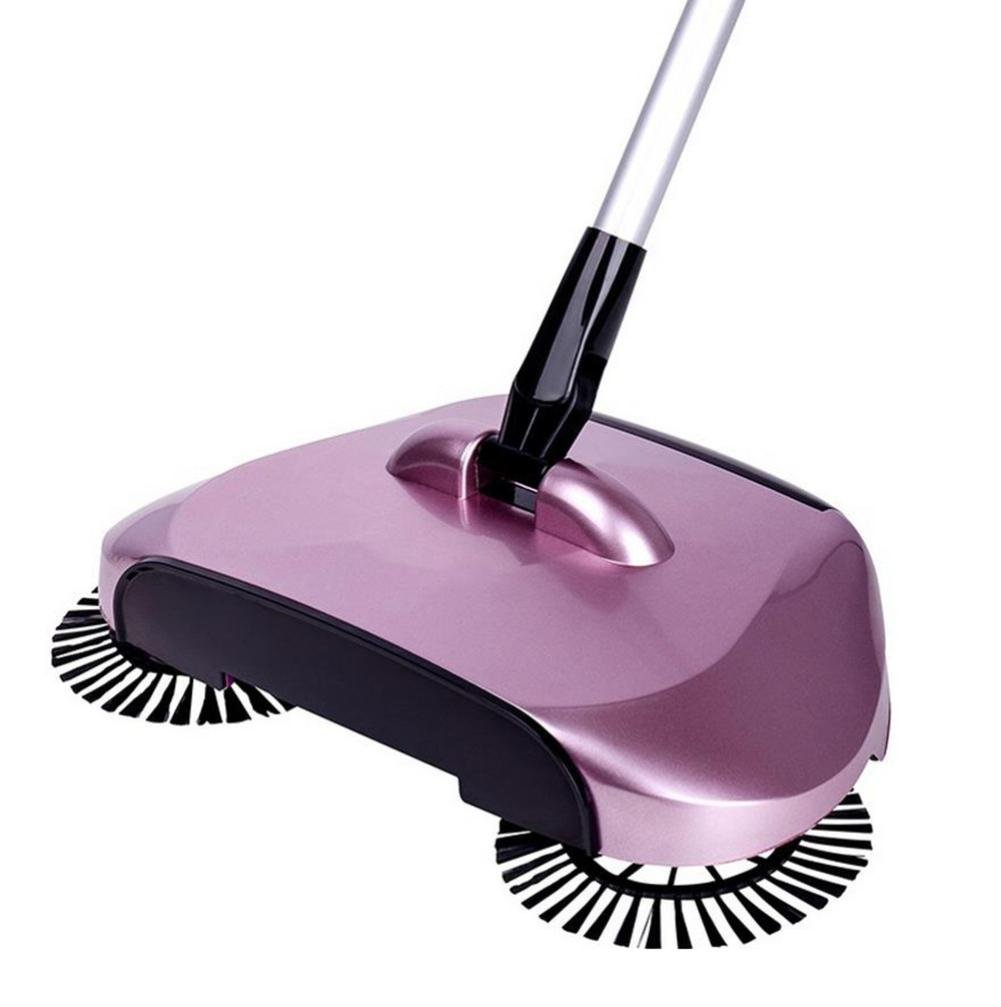 Dust Brooms Fabal New Arrival 360 Rotary Home Use Magic Manual Telescopic Floor Dust Sweeper Automatic Brooms (Rose gold)