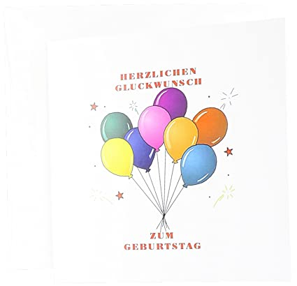 Amazon 3drose Happy Birthday In German With Balloons