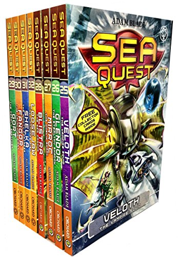 Adam Blade Sea Quest Series 7 and 8 Collection 8 Books Set Pack (Veloth the Vampire Squid,Glendor the Stealthy Shadow,Mirroc the Goblin Shark,Blistra the Sea Dragon) (Sea Quest Adam Blade)
