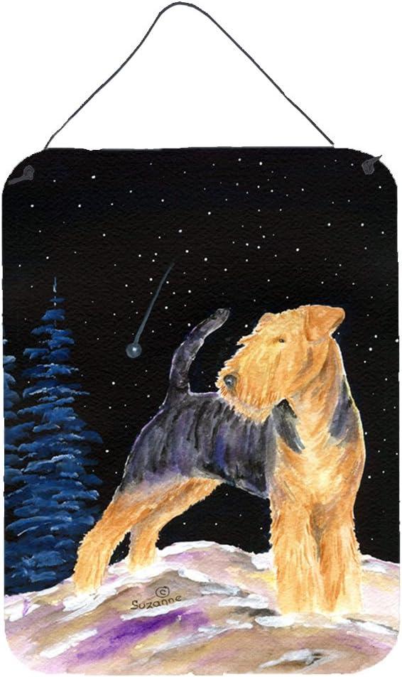 Caroline's Treasures SS8464DS1216 Starry Night Welsh Terrier Aluminium Metal Wall or Door Hanging Prints, 12x16, Multicolor