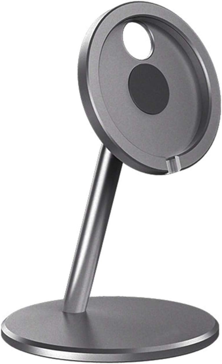 Serious Lamp Soporte Telefónico, Soporte Móvil Ajustable, Cargador Inalámbrico Magnético de Aluminio Portacuche del Soporte del Teléfono Compatible con mag-Safe Charger
