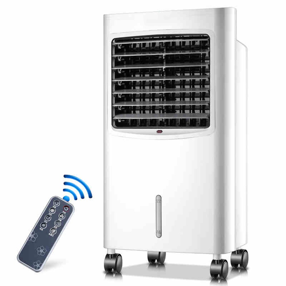 MEIDUO 空調季節家電 リモートコントロールとLCDディスプレイ付きホーム用ポータブルエアクーラー - タイマー機能、3スピード、3風設定と振動 扇風機   B07FRTJPLL