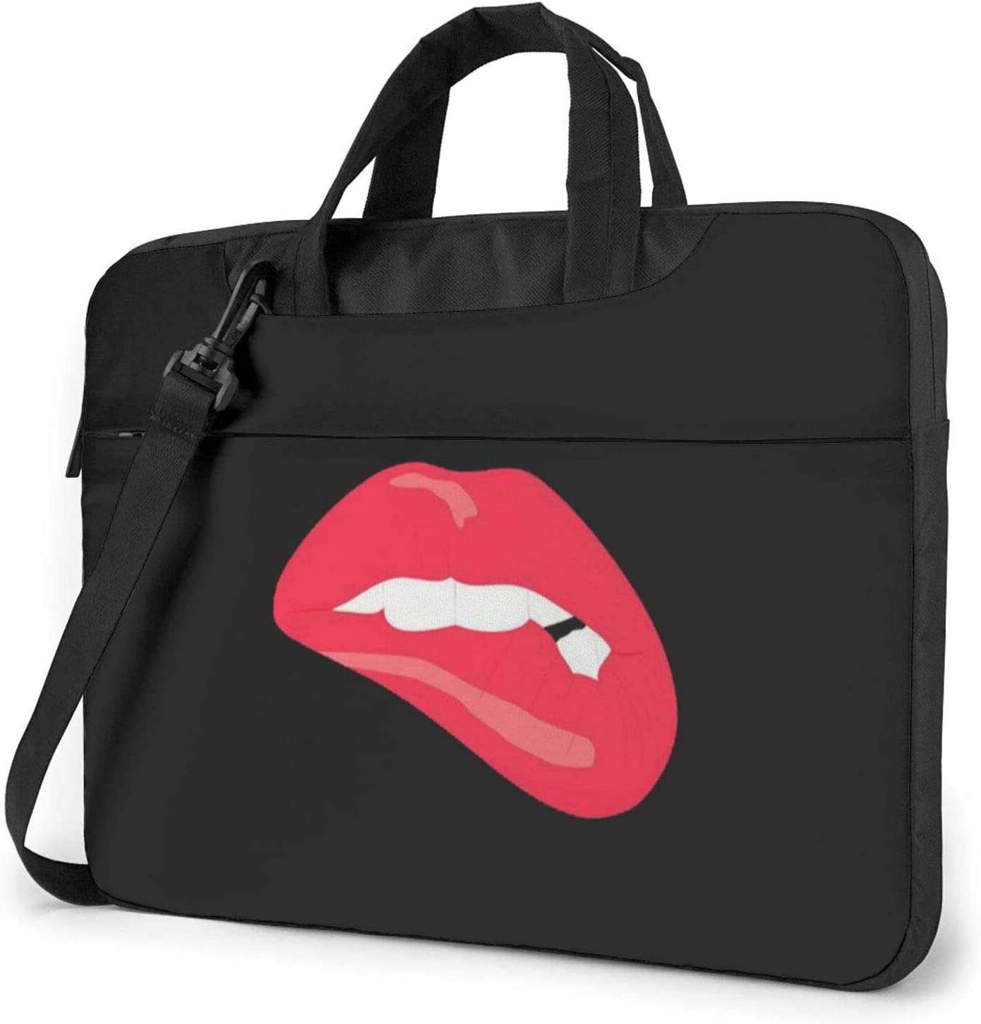 13 inch Laptop Case Bag Sleeve for Men Woman Waterproof Computer Cases for Laptops Laptop Carrying Case for Hp MacBook Pro Lenovo Dell Notebook Chromeboo Ultrabook(Lip Lip-Biting Black)