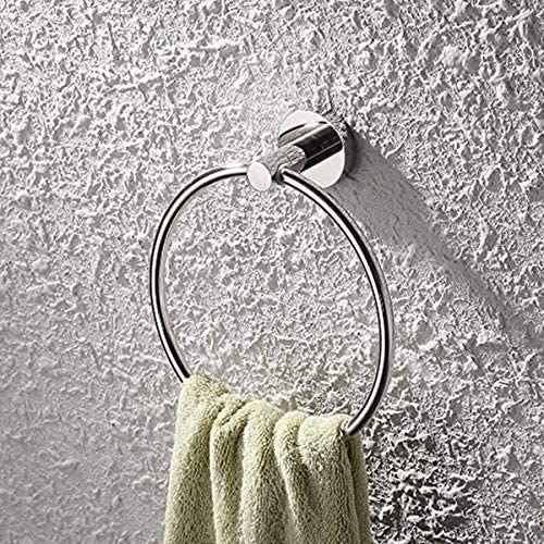 Aiaoo Towel Ring Bathroom Hand Towel Holder Contemporary Style Stainless Steel 304 Chrome Bathroom Accessories (Towel Holder Silver)