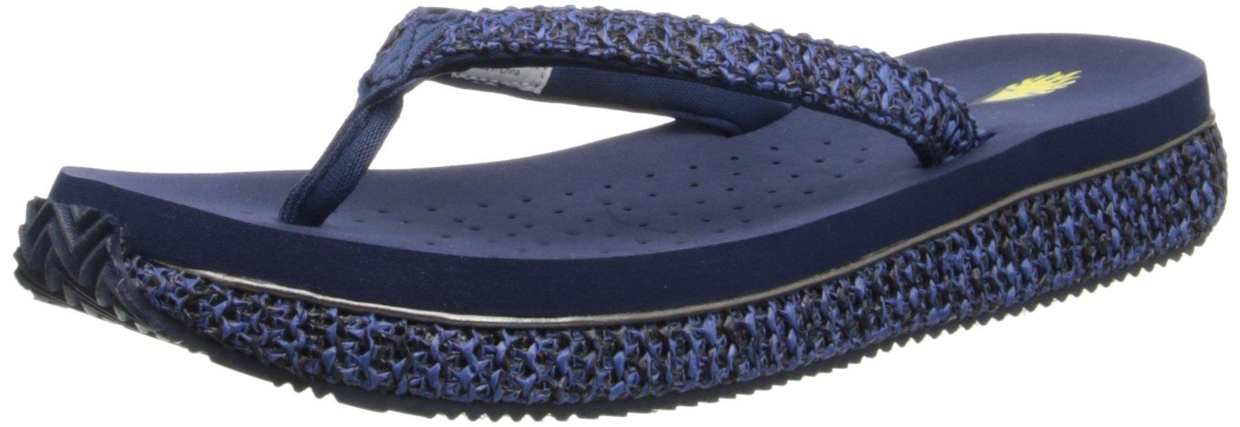 Volatile Women's Palau Wedge Sandal,Navy,7 B US