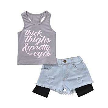 2a0ef7c51290 Amazon.com   2 Piece Outfit Set Tee and Shorts