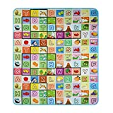 Hosmat Baby Play Mat Foam Floor Gym -Non-Toxic Non-Slip 70.2×78 Inches|Reversible Thick,Extra Large Foam Playmat (Alphabet and Farm)