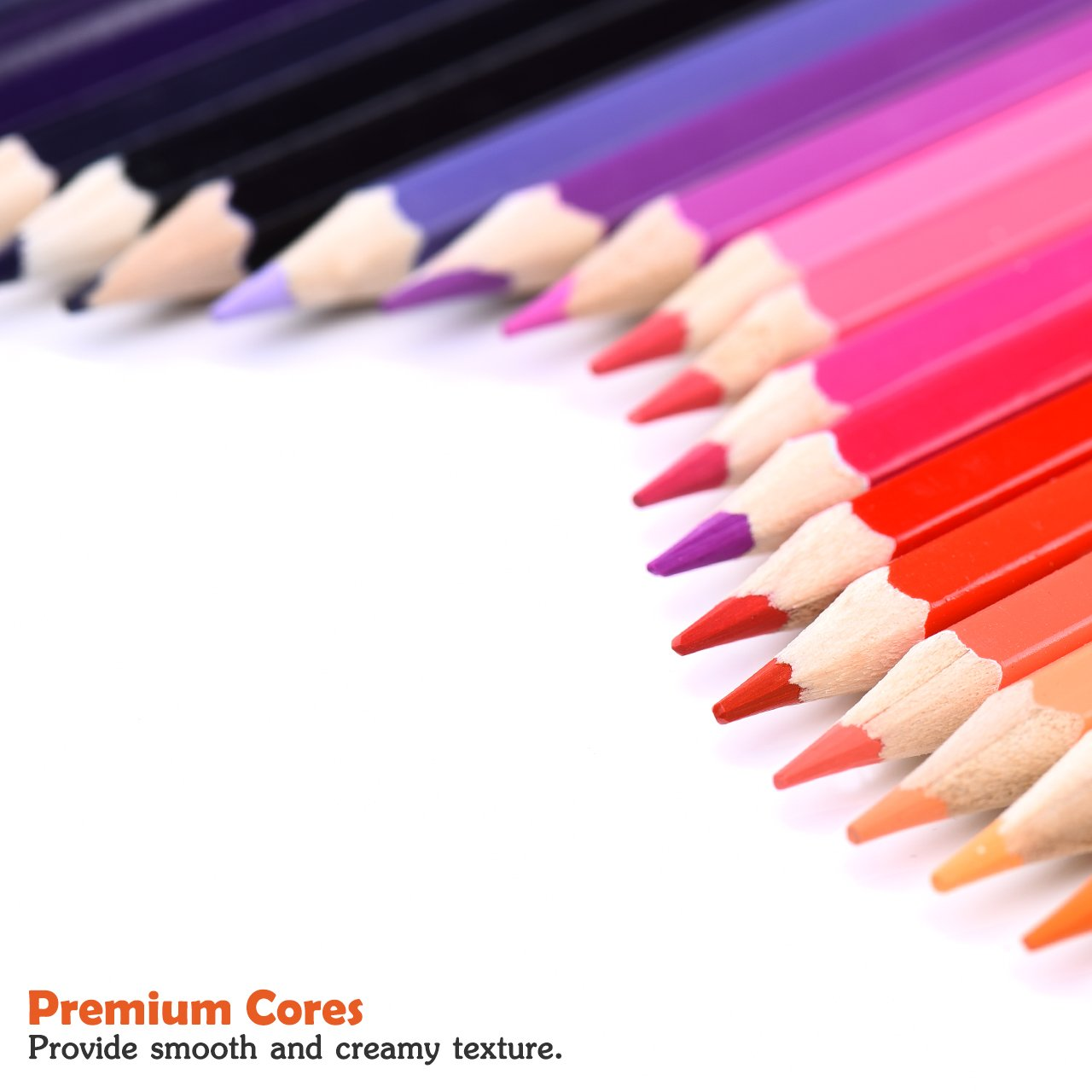 Colored Pencils, Atmoko Color Pencils Set with 72 Colored Pensils, Easy to Sharpen, [Hard to Break], Colored Pensils Bulk for Kids and Adults, Assorted Colors by ATMOKO (Image #4)