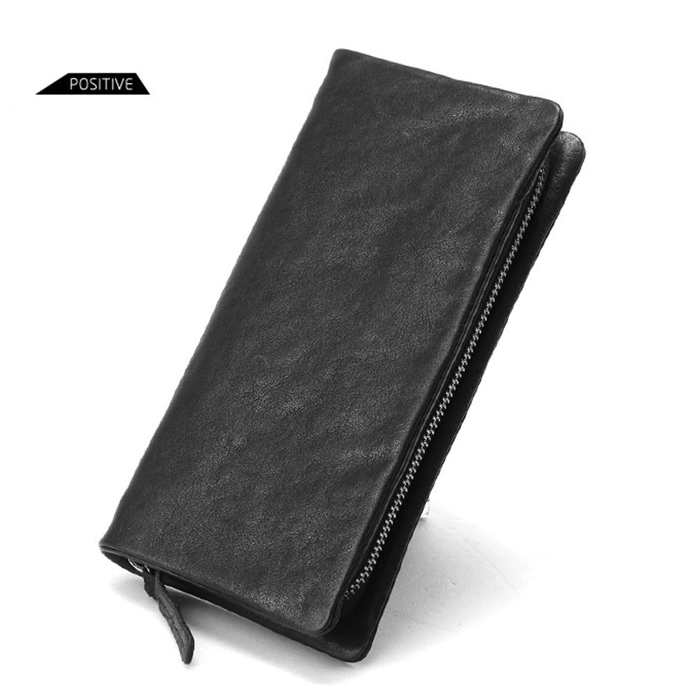 Yaoko Men's Genuine Soft Leather Long Purse Business Mens Wallet Money Clip (Common Style)