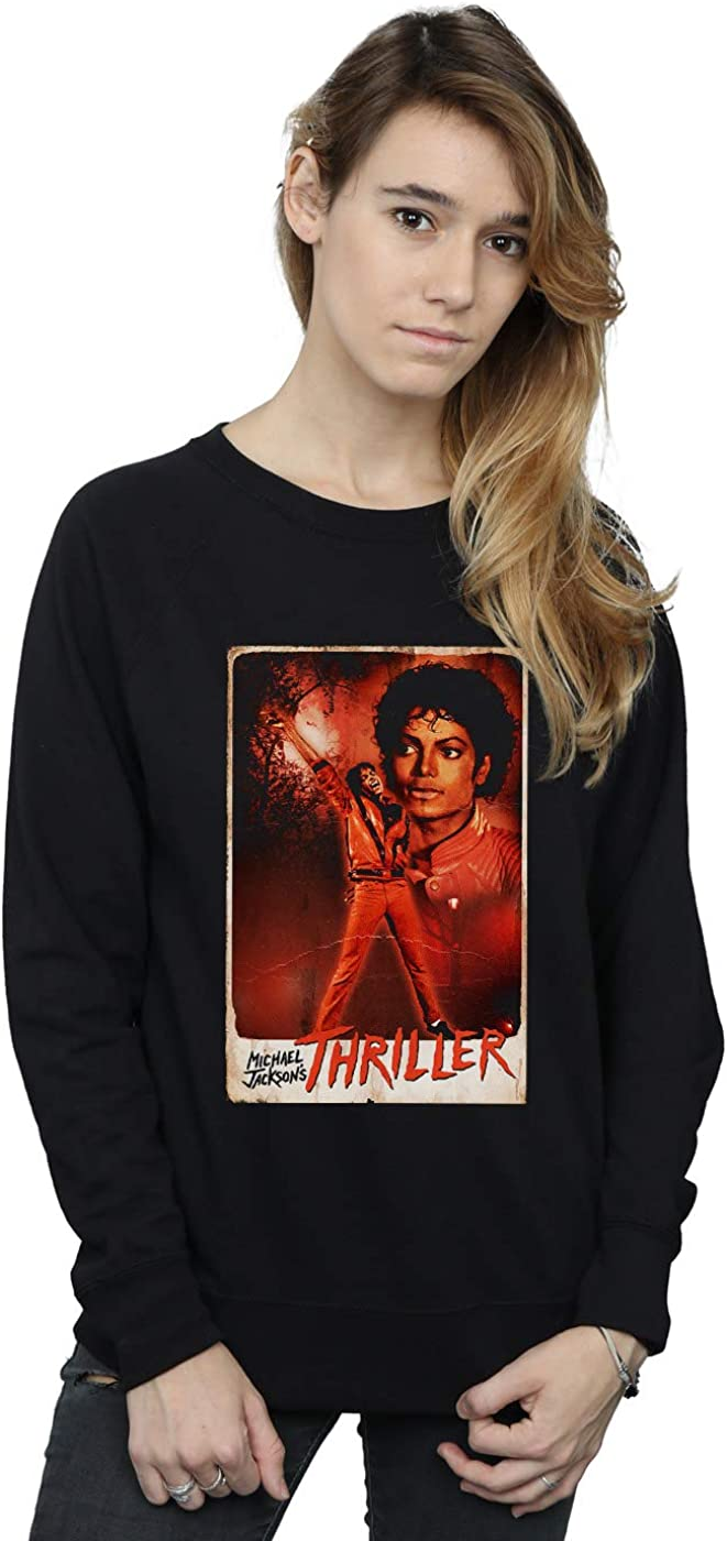 Absolute Cult Michael Jackson Mujer Thriller Stance Camisa De Entrenamiento: Amazon.es: Ropa y accesorios