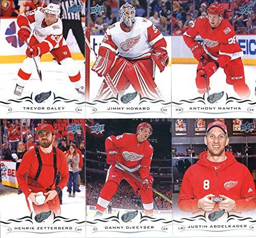 (2018-19 Upper Deck Series 1 and 2 Hockey Complete Detroit Red Wings Team Set of 13 Cards: Henrik Zetterberg(#64), Danny DeKeyser(#65), Justin Abdelkader(#66), Anthony Mantha(#67), Trevor Daley(#68), Jim Howard(#69), Dylan Larkin(#315), Andreas Athanasiou(#316), Jonathan Bernier(#317), Mike Green(#318), Niklas Kronwall(#319), Gustav Nyquist(#320), Frans Nielsen(#321))