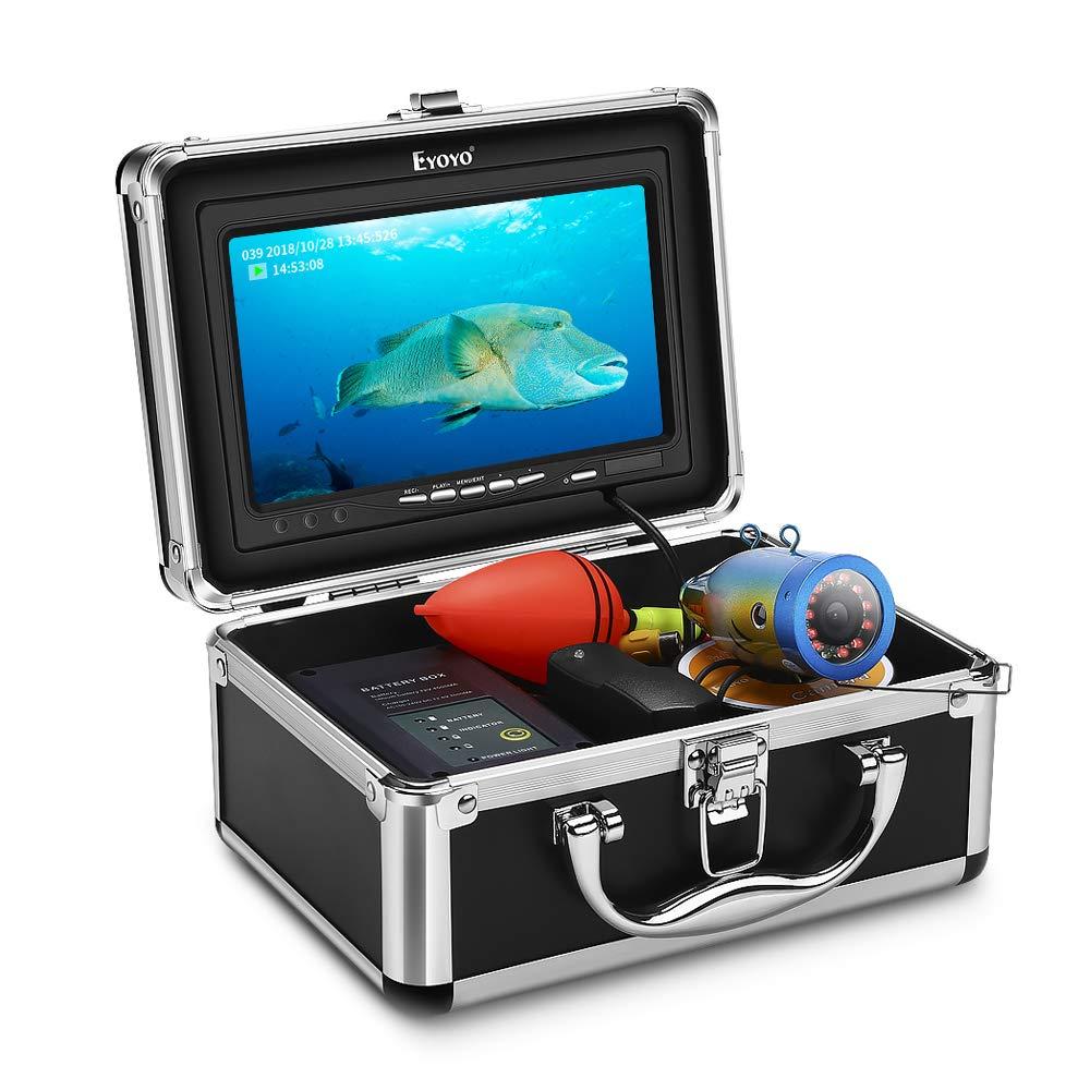 Eyoyo 水中 IP68防水カメラ 30M 7インチモニター 水中 魚群探知機 録画機能付き 赤外線LED12灯+白色LED12灯 四つの点灯モード IP68防水カメラ 魚群探知機 再充電式バッテリー ナイトビジョン フィッシュファインダー 8GBカード付属 B07KBZ4M3Y, さかえや着物:614c89b6 --- tandlakarematspetersson.se