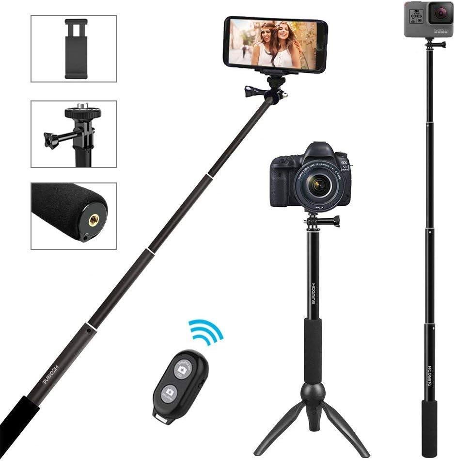 Haozi - Palo de Selfie Bluetooth 5 en 1 Profesional Extensible ...