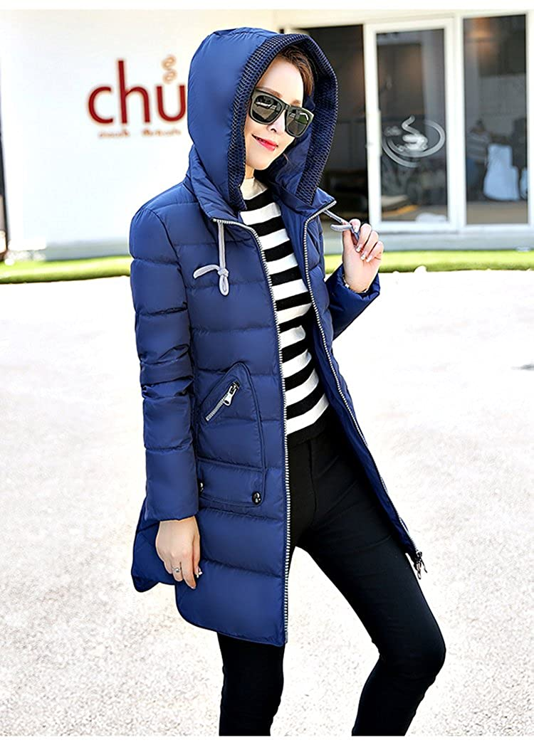 a1c6887f7657 Rela Bota Women s Winter Faux Fur Hooded Coats Down Parkas Anroaks Long Jacket  Overcoat larger image