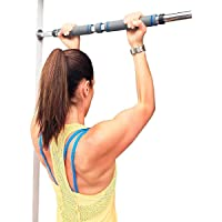 Barra De Porta Fixa Para Exercícios - Ajustável 80cm A 130cm